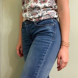 Banana Republic Lightly Frayed Girlfriend Jeans